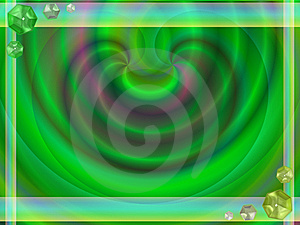 Pastel Green Gems Frame Stock Image - Image: 6604741