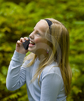 Happy Girl On Phone Stock Images - Image: 6605854