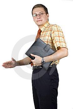 Junger, Eleganter Geschäftsmann Lizenzfreie Stockfotos - Bild: 6606088