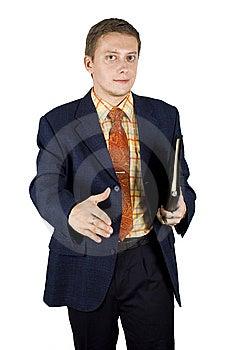 Rütteln Der Hand Mit Jungem Geschäftsmann Stockfotos - Bild: 6606263