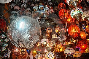 TURKISH ORIENTAL LAMP Royalty Free Stock Images - Image: 6606629