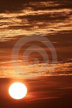 Sunrise In Burning Sky Stock Image - Image: 6609321