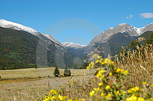 Rocky Mountain Landscape From Moraine Park Stock Photography - Image: 6609802