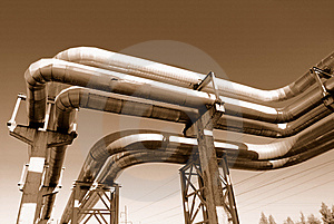 Industrial Pipelines Royalty Free Stock Photos - Image: 6610748