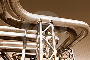 Industrial Pipelines Royalty Free Stock Image - Image: 6610846