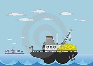 Toy Cargo Ship Royalty Free Stock Photos - Image: 6610908