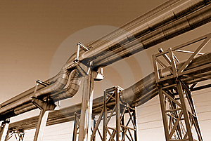 Industrial Pipelines Royalty Free Stock Images - Image: 6610969
