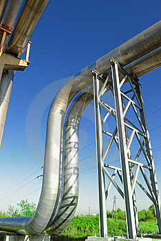Industrial Pipelines Royalty Free Stock Images - Image: 6611109