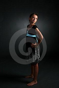 Studio Portrait Of Pretty Girl Royalty Free Stock Photos - Image: 6615468