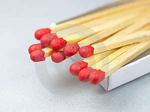 MATCH STICKS Stock Photography - Image: 6617632