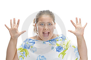 Surprised Young Girl Stock Photo - Image: 6618800