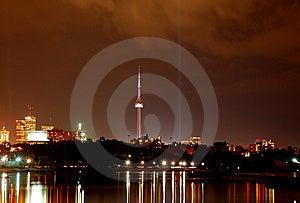 Toronto City Skyline (night) Royalty Free Stock Photography - Image: 6619517