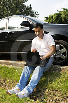 Working Outdoors Stock Photo - Image: 6620450