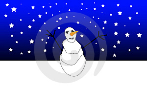 Xmas Snowman 2 Royalty Free Stock Images - Image: 6620809