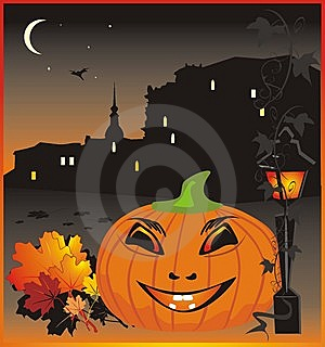 Pumpkin. Halloween. Holiday Background For Card Royalty Free Stock Photo - Image: 6621325