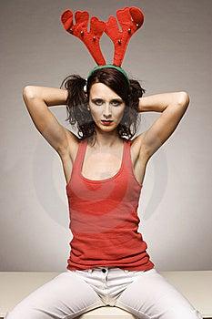 Christmas Lady Stock Images - Image: 6621604
