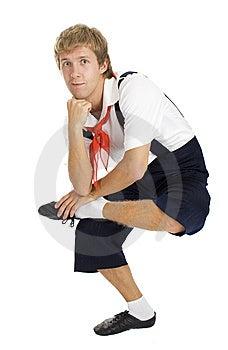 Men Making Exercise Of Yoga, Isolated Stock Photos - Image: 6629583