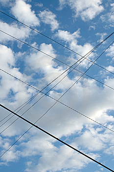 Wired Sky. Royalty Free Stock Image - Image: 6630676