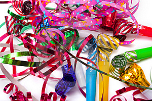 Party blowers Stock Photos