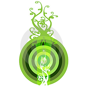 Interesting Eco Button Bullzeye Stock Images - Image: 6633084