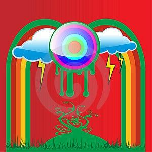Interesting Eco Button Bullzeye Stock Photo - Image: 6633090