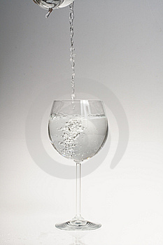 Water Poured Into Glass Stock Photos - Image: 6633213