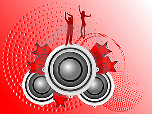Red Musical Illustration Stock Photos - Image: 6633393
