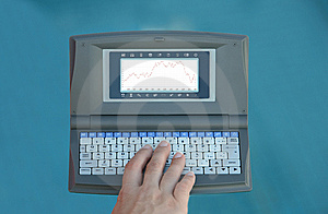 Calculator With Hand Royalty Free Stock Images - Image: 6634359