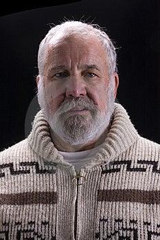 Bearded Man Over Black Stock Photos - Image: 6635893