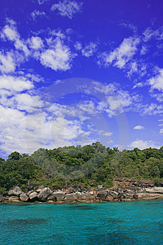 Blue Sky Over Similan Islands Royalty Free Stock Photos - Image: 6636008