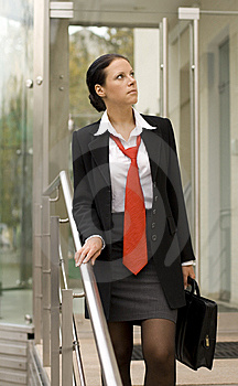 Businesswoman With Portfolio Royalty Free Stock Image - Image: 6637626