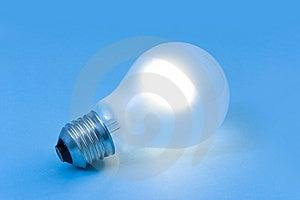 Lighting Lamp On Blue Background Royalty Free Stock Photo - Image: 6638245