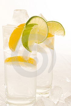 Water With Fresh Lemon Stock Image - Image: 6638401