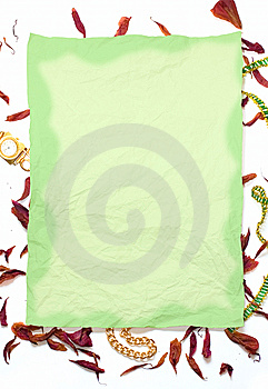 Grunge Paper And Dry Floral Petal Royalty Free Stock Image - Image: 6638536
