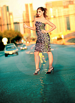 Urban Fashion Woman Royalty Free Stock Photography - Image: 6638987