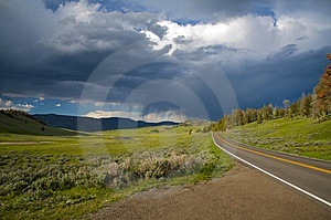 Ominous Road Royalty Free Stock Photography - Image: 6640557
