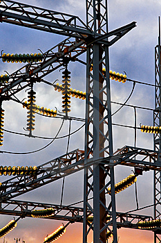 Distribution Substation Insulators Stock Photography - Image: 6641582