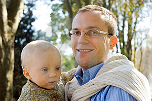 Father And Son In Park Royalty Free Stock Photography - Image: 6644337