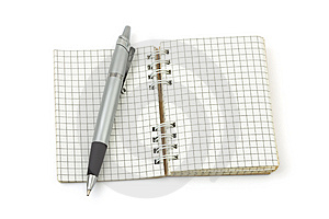 Pen And Note Pad Royalty Free Stock Images - Image: 6649449