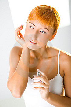 Sexy Woman With Perfume Stock Photos - Image: 6649593