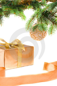 Christmas Gift Under The Tree Stock Photos - Image: 6650533