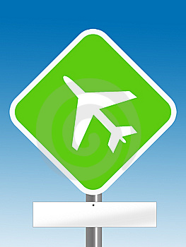 Aeroplane Sign Royalty Free Stock Photos - Image: 6651358