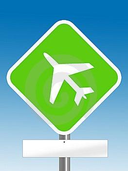 Aeroplane Sign Royalty Free Stock Photos - Image: 6651358