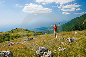 Happiness On A Nature Royalty Free Stock Image - Image: 6652946