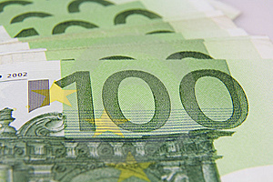 100 Euro Bankbiljetmacro Stock Foto's - Afbeelding: 6653173