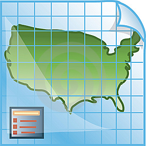 Map Icon Stock Photos - Image: 6655293