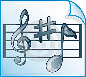 Musical Scores Icon Stock Images - Image: 6655654