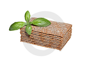 Crispbread Slices With Basil Stock Images - Image: 6658844