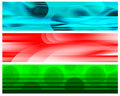 Cyan Red White Green Banners Royalty Free Stock Image