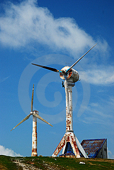 Old Wind Turbines Stock Photo - Image: 6660220